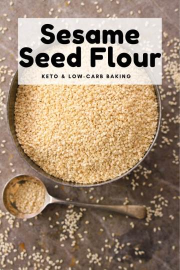 It is time to meet sesame seed flour! It is a versatile flour with the perfect nutrient profile for the ketogenic diet, making it a great ingredient for keto baking.