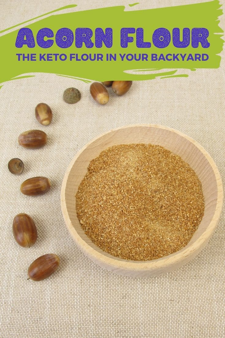 Acorn flour can fit into your keto diet. Start baking with this nutty and sweet keto flour to change up your normal keto ingredients! #ketogenic