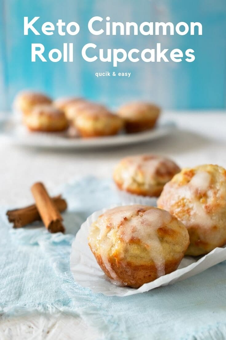 """These cinnamon rolls are not only simple, but they're also quick and easy. If you need a low-carb dessert in a hurry, this could quickly become your default """"oh my gosh, the in-laws will be here in thirty minutes and I don't want to destroy my diet so I need something sweet now"""" rescue recipe! #lowcarb #keto"""