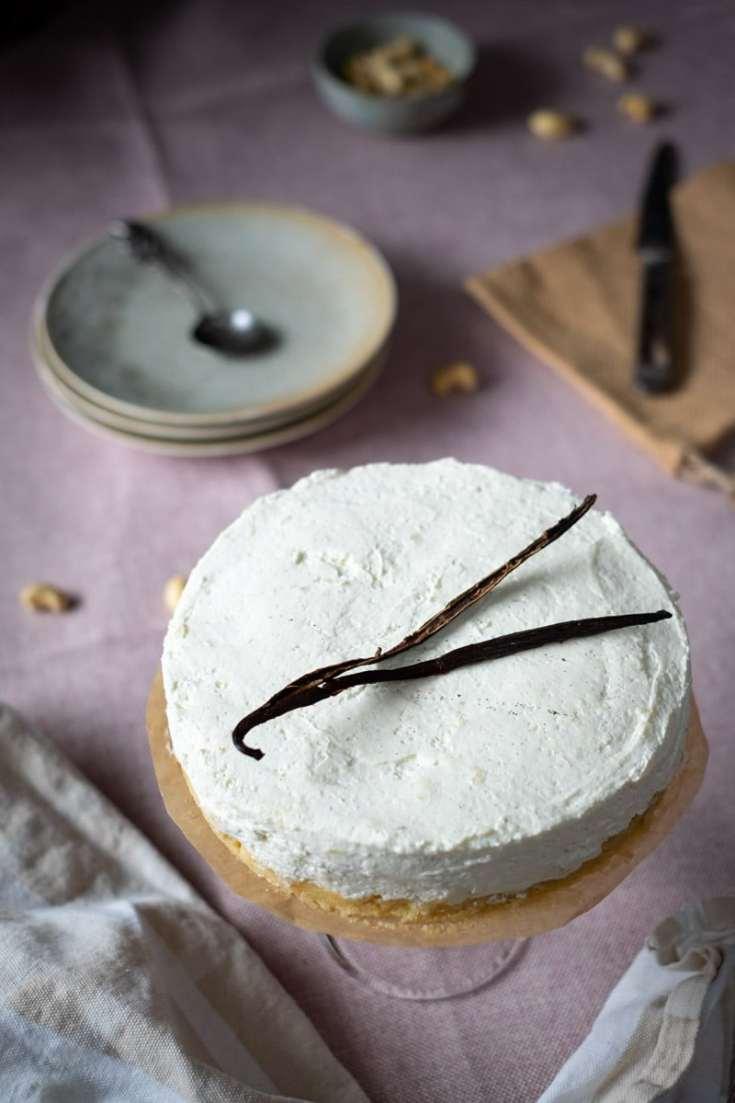 No Bake Low Carb Vanilla Cheesecake recipe by My Sweet Keto #lowcarb #ketodessert