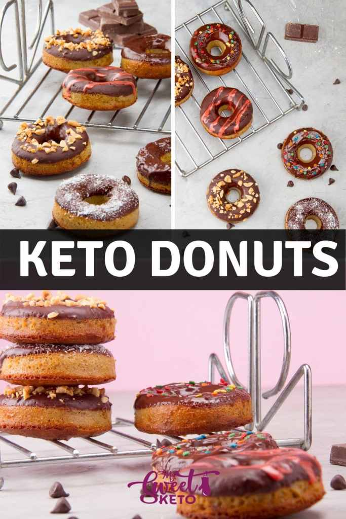 These sweet dough rings are usually fried and covered with sugar or chocolate glaze. We've turned them into keto donuts for every low-carber to enjoy! #keto