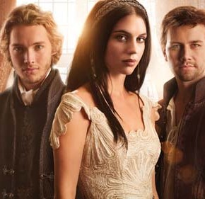 Reign -- Image: RE01_KEYGroup1 -- Pictured (L-R): Toby Regbo as Prince Francis, Adelaide Kane as Mary, Queen of Scots, and Torrance Coombs as Bash ­ Photo: Mathieu Young/The CW -- © 2013 The CW Network, LLC. All rights reserved.