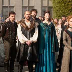 "Reign -- ""Pilot"" -- Image Number: RE100b_172r.jpg -- Pictured (L-R): Torrance Coombs as Bash, Alan Van Sprang as King Henry II, Rossif Sutherland as Nostradamus, Anna Walton as Diane, and Megan Follows as Catherine de' Medici -- Photo: Joss Barratt/The CW -- © 2013 The CW Network, LLC. All rights reserved."