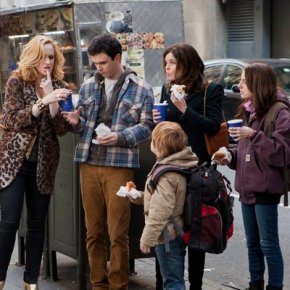 THE MICHAEL J. FOX SHOW -- Pilot -- Pictured: (l-r)  Katie Finneran as Leigh Henry, Conor Romero as Ian Henry, Jack Gore as Graham Henry, Betsy Brandt as Annie Henry, Juliette Goglia as Eve Henry -- (Photo by: K.C. Bailey/NBC)