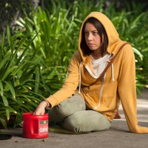 "PARKS AND RECREATION -- ""London"" Episode 601/602 -- Pictured: Aubrey Plaza as April Ludgate -- (Photo by: Colleen Hayes/NBC)"