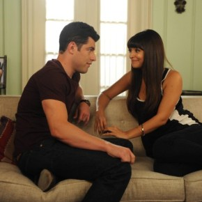 "NEW GIRL:  Schmidt (Max Greenfield, L) makes a decision about his relationship with Cece (Hannah Simone, R) in the ""All In"" season premiere episode of NEW GIRL airing Tuesday, Sept. 17 (9:00-9:30 PM ET/PT) on FOX. ©2013 Fox Broadcasting Co. Cr: Ray Mickshaw/FOX"