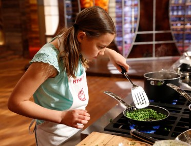 "MASTERCHEF: Contestant Ryan Kate in the all-new ""Junior Edition: Family Style"" episode of MASTERCHEF airing Tuesday, Feb. 3 (8:00-9:00 PM ET/PT) on FOX. CR: Greg Gayne / FOX. © 2014 FOX Broadcasting."