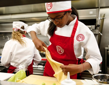 """MASTERCHEF: Contestant Ayla in the all-new """"Junior Edition: Restaurant Takeover"""" episode of MASTERCHEF airing Tuesday, Feb. 10 (8:00-9:00 PM ET/PT) on FOX. CR: Greg gayne / FOX. © 2014 Fox Broadcasting."""