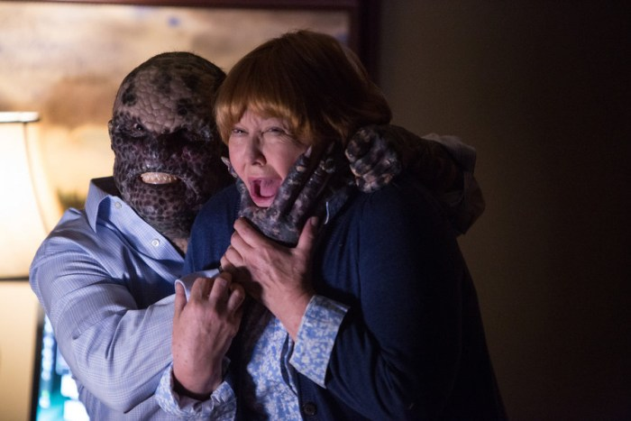 "GRIMM -- ""Clear and Wesen Danger"" Episode 502-- Pictured: (l-r) Paul Wemlinger as Quijada Vil, Susan Ruttan as Betty Frame -- (Photo by: Scott Green/NBC)"