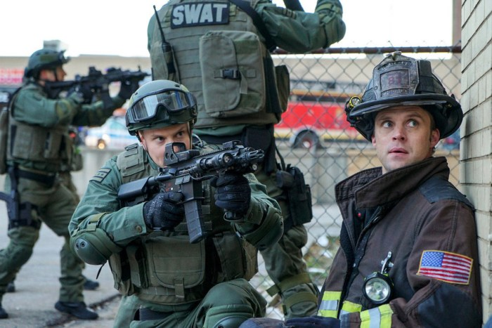 """CHICAGO FIRE -- """"The Sky Is Falling"""" Episode 413 -- Pictured: Jesse Spencer as Matthew Casey -- (Photo by: Elizabeth Morris/NBC)"""