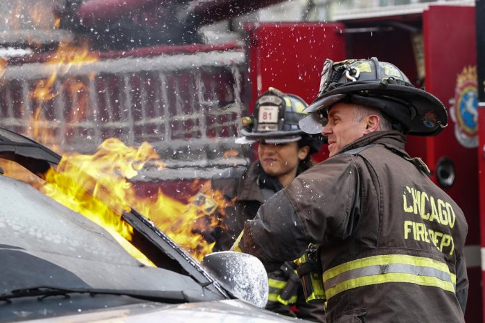 "CHICAGO FIRE -- ""Two Ts"" Episode 416 -- Pictured: David Eigenberg as Christopher Herrmann -- (Photo by: Elizabeth Morris/NBC)"