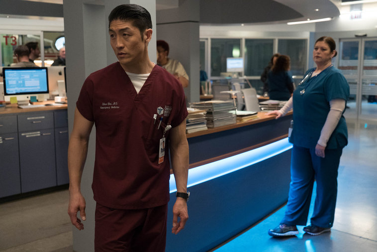 "CHICAGO MED -- ""Guilty"" Episode 112 -- Pictured: Brian Tee as Dr. Ethan Choi -- (Photo by: Elizabeth Sisson/NBC)"