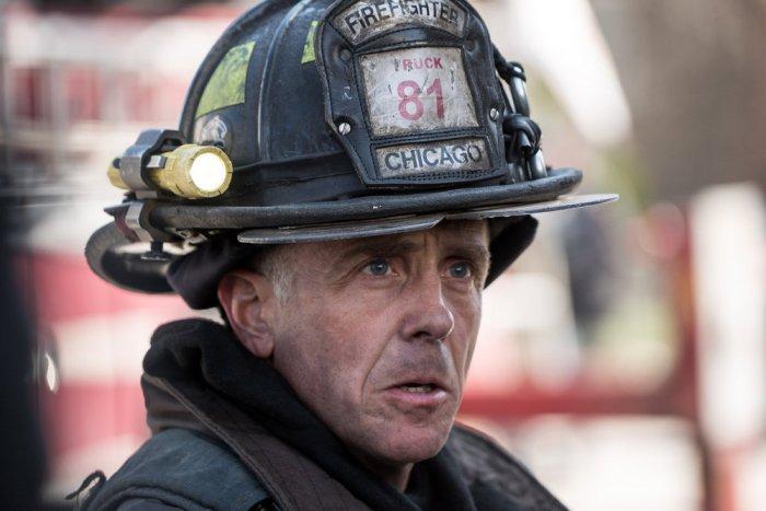 "CHICAGO FIRE -- ""Kind of a Crazy Idea"" Episode 421 -- Pictured: David Eigenberg as Christopher Herrmann -- (Photo by: Elizabeth Morris/NBC)"