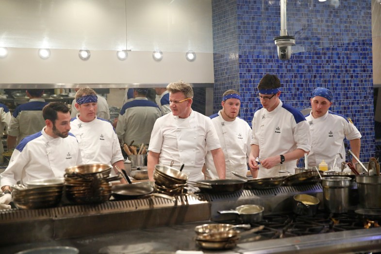 "HELL'S KITCHEN: Contestant Host / chef Gordon Ramsay in the all-new ""17 Chefs Compete"" episode of HELL'S KITCHEN airing Friday, Sept. 30 (8:00-9:01 PM ET/PT) on FOX. Cr: Greg Gayne / FOX. © 2016 FOX Broadcasting Co."