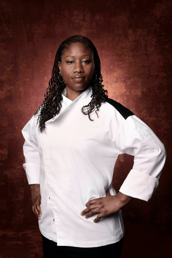HELL'S KITCHEN: Aziza Young. CR: Greg Gayne / FOX.  © 2016 FOX Broadcasting Co.