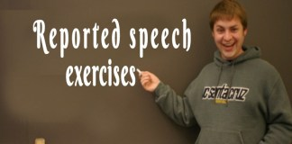 Reported speech exercises