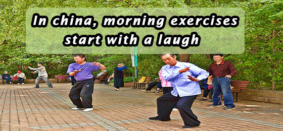 morning laughter in china