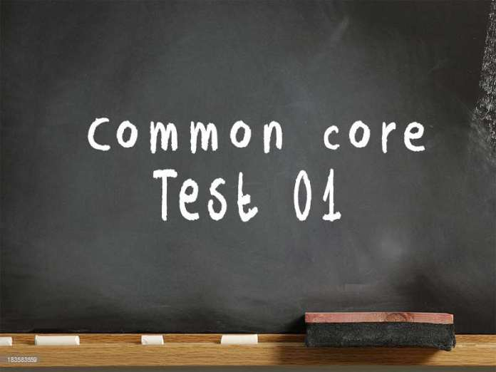 Common Core test 01