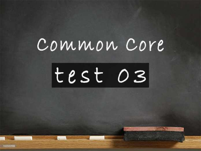 Common Core test 03