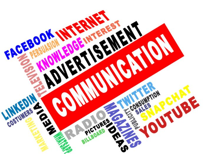 The effects of communication on advertisement