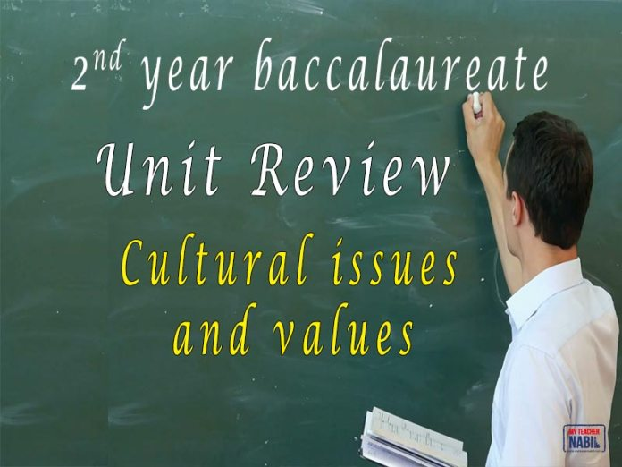 Cultural issues and values review