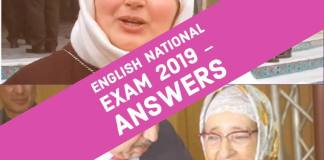 Baccalaureate National Exam Sciences 2019