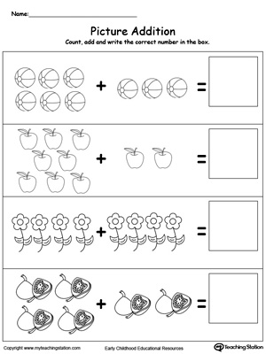 Addition With Pictures Objects