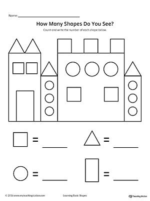 Preschool Math Printable Worksheets
