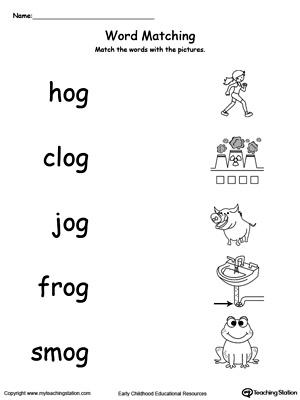 OG Word Family Workbook For Kindergarten