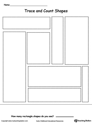 Early Childhood Shapes Worksheets
