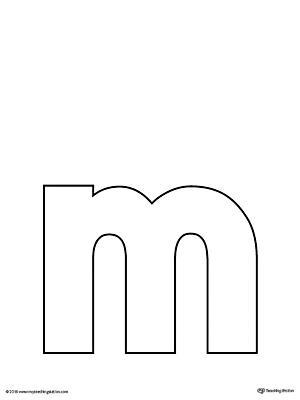 Lowercase Letter M Template Printable Myteachingstation Com