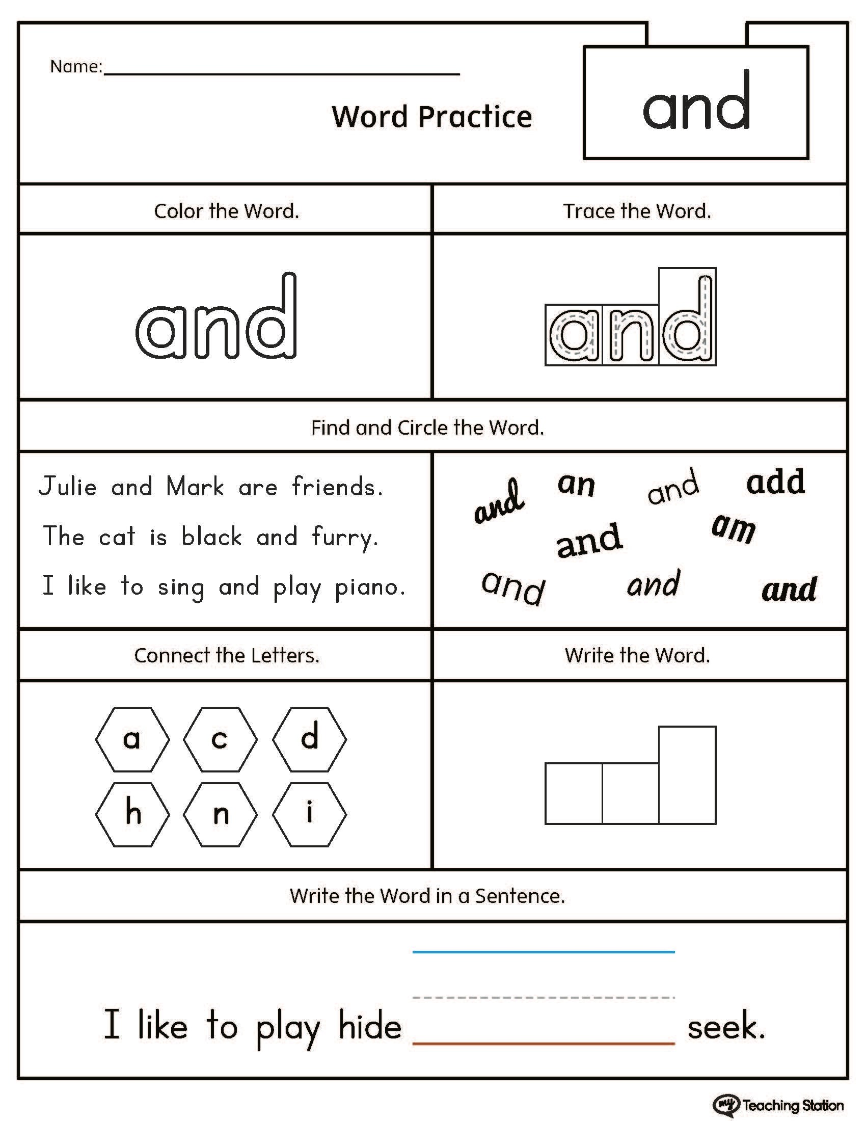 Grade 1 Worksheet K5 Learning