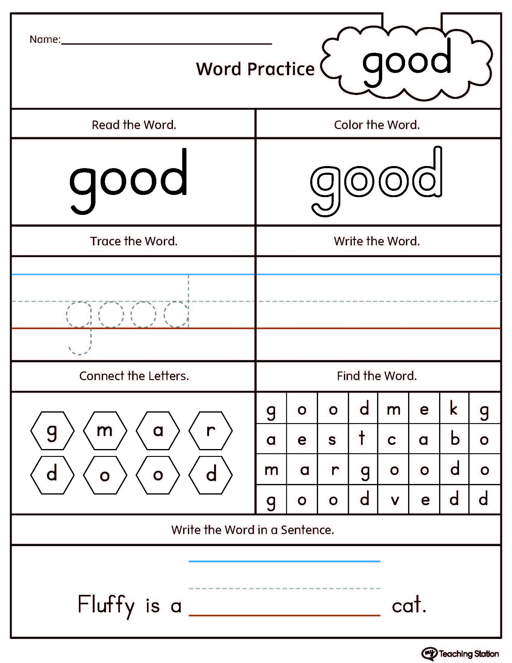 Positional Vocabulary Worksheet For Preschool