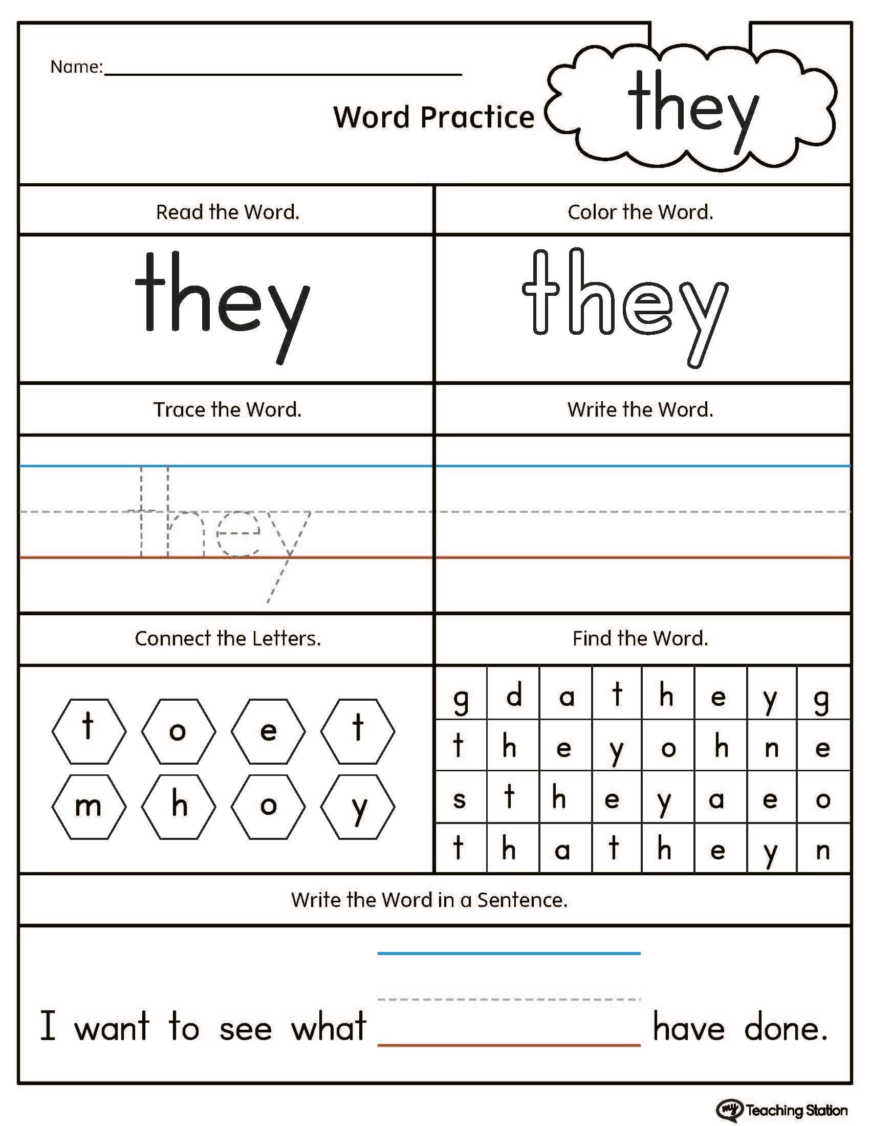 Easy Word Search Worksheet Language Arts