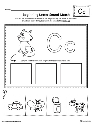 Letter C Beginning Sound Picture Match
