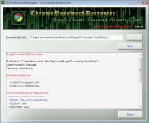 chromepassworddecryptor_screenshot_main