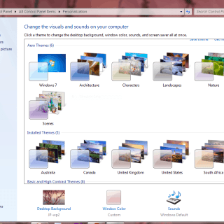 Unlock Hidden Windows 7 Themes