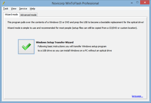 Easily create bootable Windows USB drive using WinToFlash