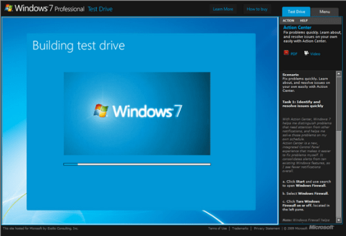 Test Drive Windows 7