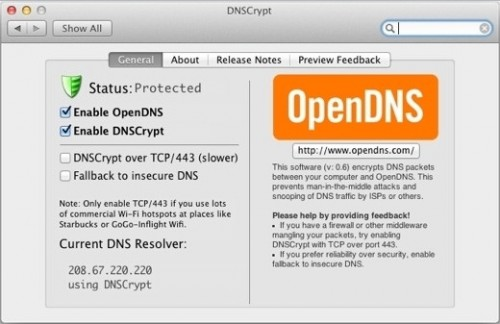 OpenDNS DNSCrypt for Mac