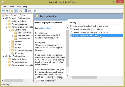 do-not-display-lock-screen-windows-8