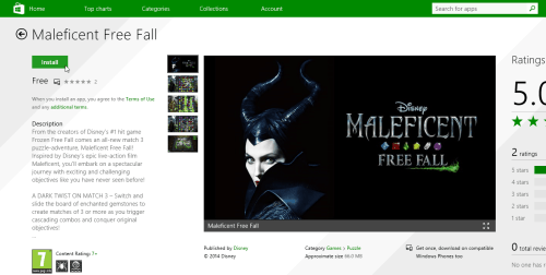 Download Maleficent Free Fall