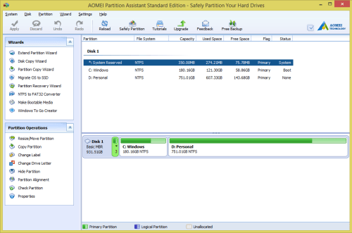 AOMEI Partition Assistant Standard Review