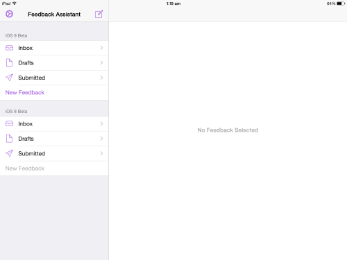 iOS Beta Software Feedback Agent