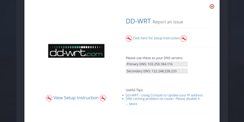 Setup UnoTelly smart DNS service UnoDNS on dd-wrt router