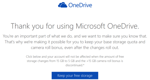 How To Keep 15 GB Free OneDrive Storage and Camera Bonus Space