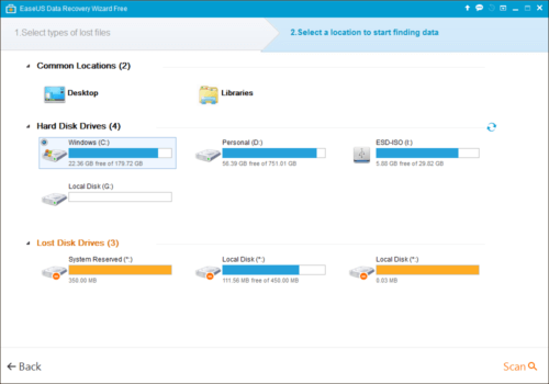 EASEUS Data Recovery Wizard Free - HD