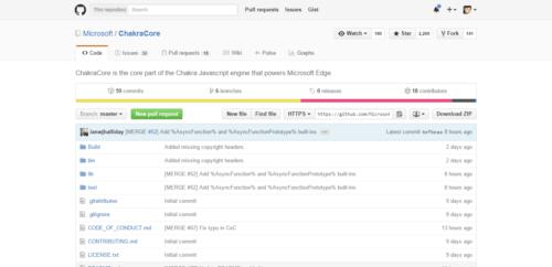 ChakraCore GitHub Repository