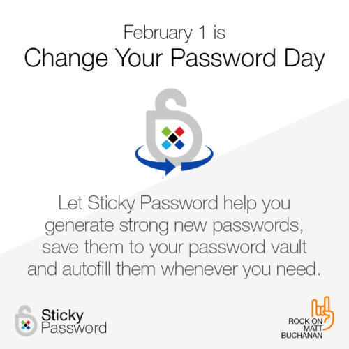 Sticky Password - Change Your Password Day - Feb 1