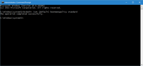Disable F8 Safe Mode Classic Boot Loader In Windows 10